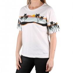 Pepe Jeans Camiseta Lara Mousse Blacno Palmeras Mujer