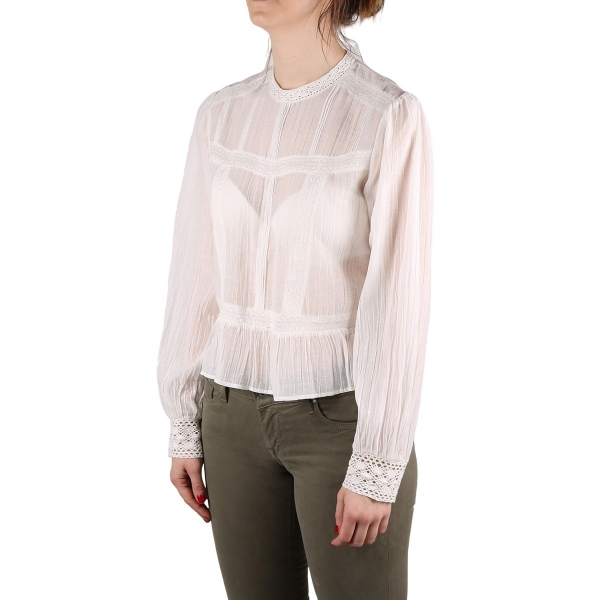 Pepe Jeans Blusa Blanche Mousse Crochet Blanco Roto Mujer