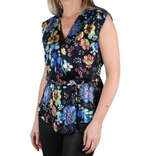 Pepe Jeans Blusa Amaia Multi Negro Flores Mujer
