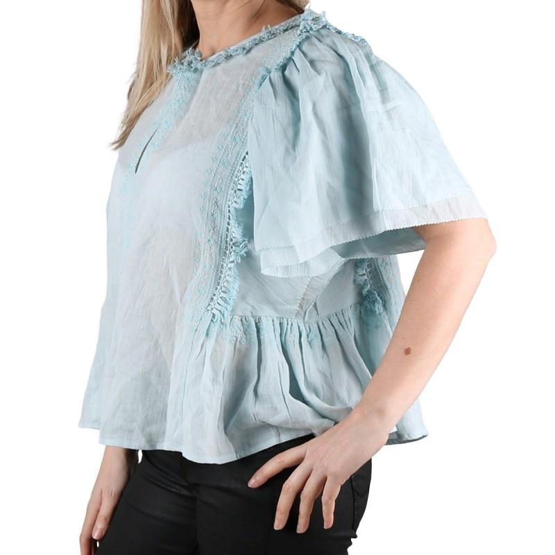 Pepe Jeans Blusa Dakota Boho Sky Azul Cielo Mujer