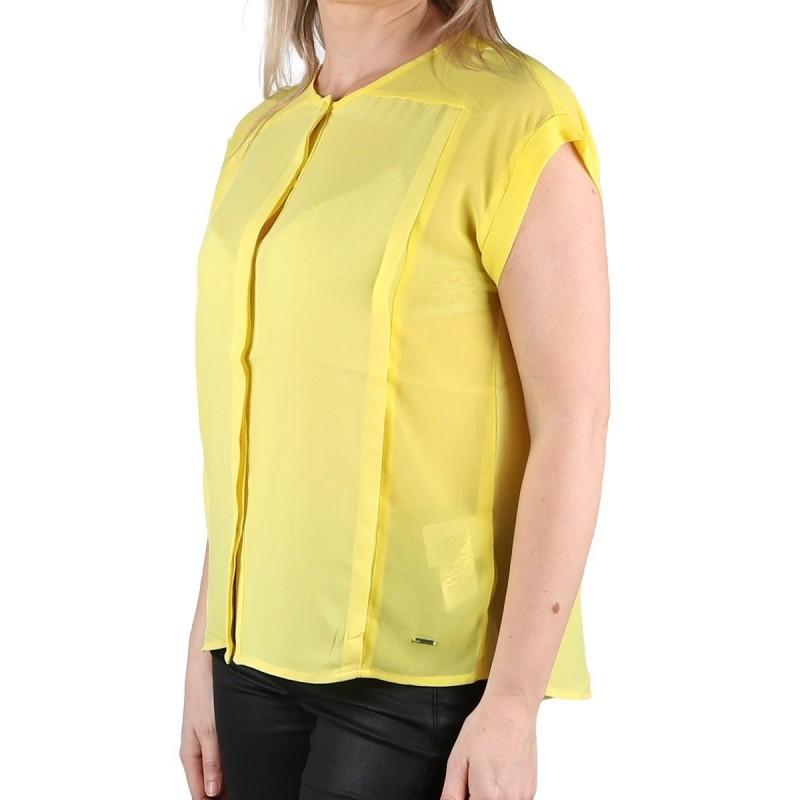 Pepe Jeans Blusa Erin Fluida Yellow Amarilla Mujer