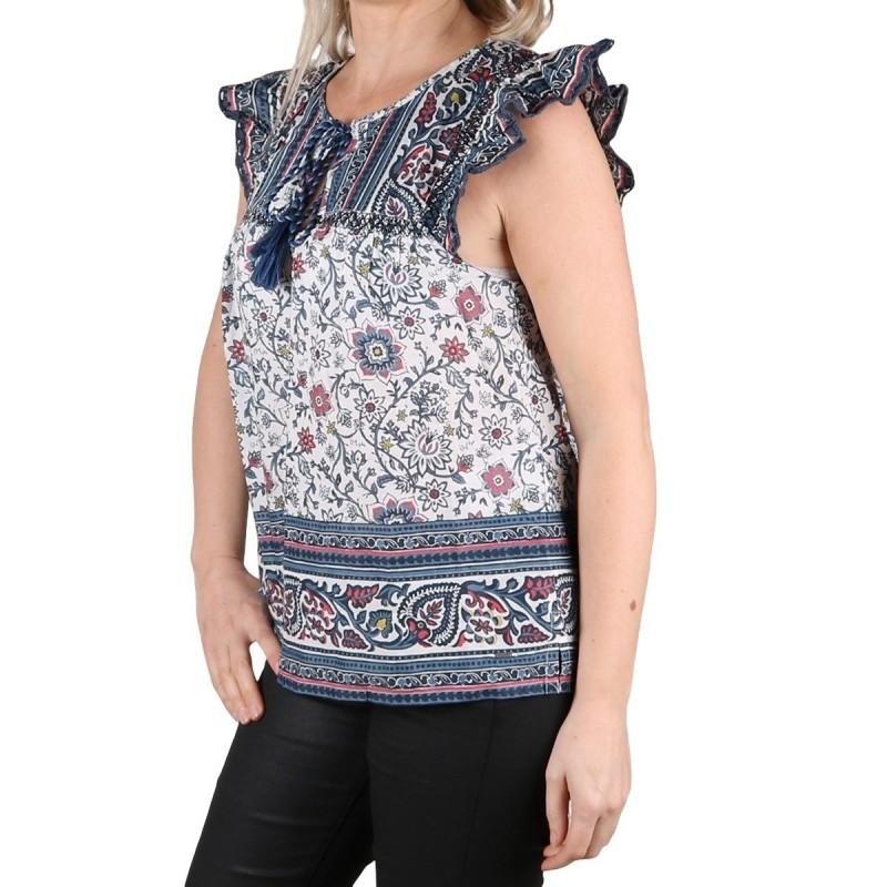 Pepe Jeans Blusa Izabel Multi Estampado Flores Mujer