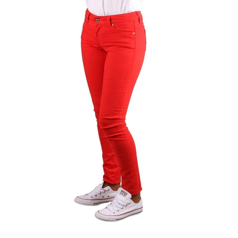 Pepe Jeans Pantalón Vaquero Skinny Soho Pillarb Rojo Mujer