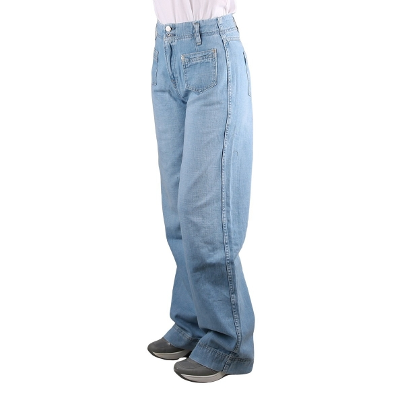 Pepe Jeans Pantalon Vaquero Vintage Debbie Denim Azul Medio Mujer