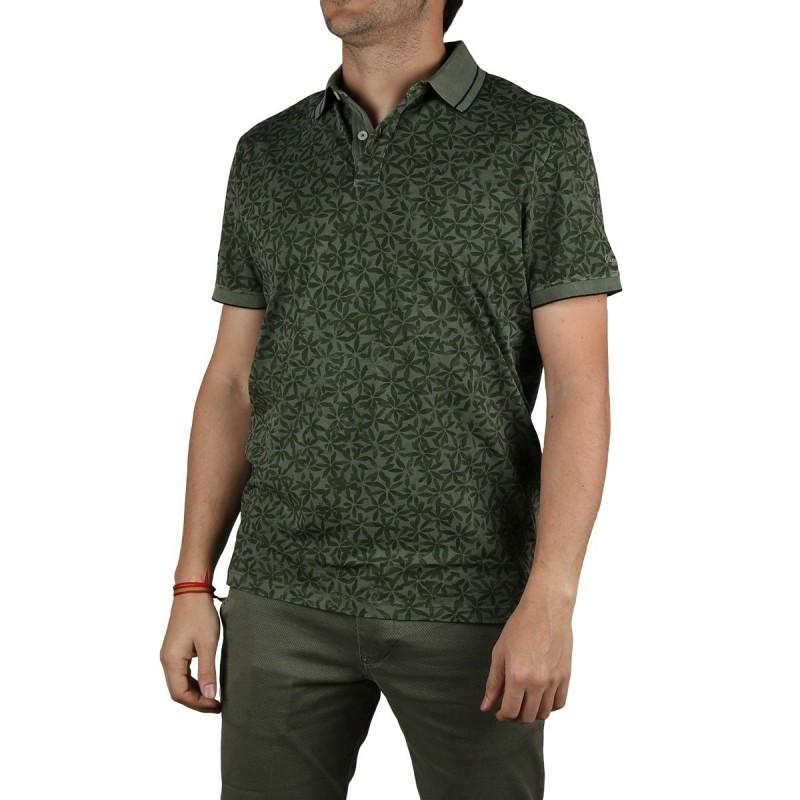 Pepe Jeans Polo Leland Safari Verde Tropical Hombre