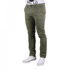 Pepe Jeans Pantalón Chino Charly Minimal Safari Verde Estampado Hombre