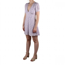 Pepe Jeans Vestido Mini Dua Lipa Ruth Multi Color Floral Violeta Mujer