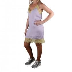 Pepe Jeans Vestido Mini Lingerie Dua Lipa Nicole Violet Violeta Amarillo Mujer