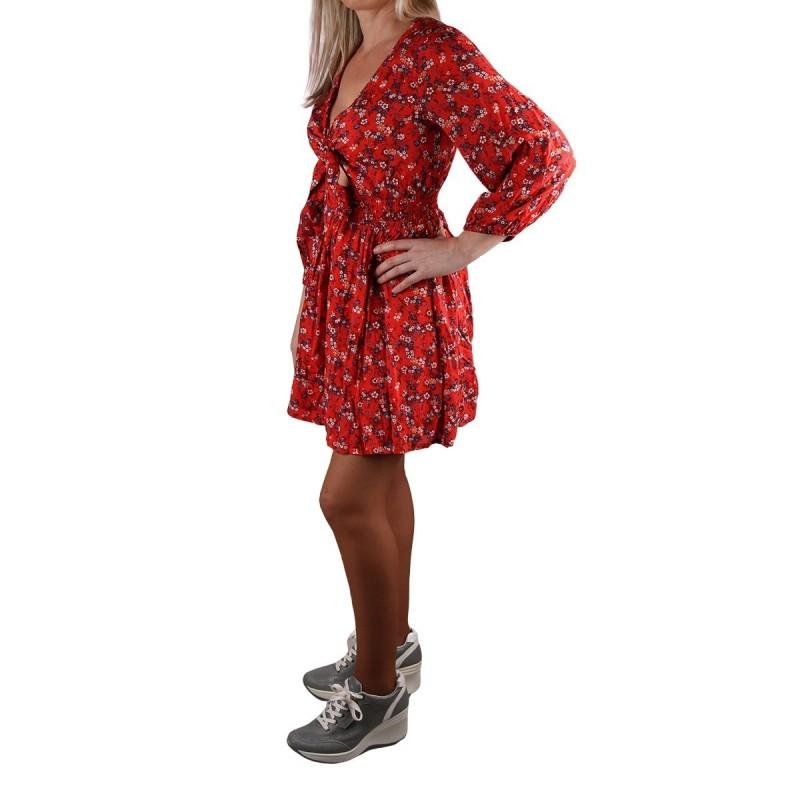 Pepe Jeans Vestido Mini Marta Multi Floral Rojo Mujer