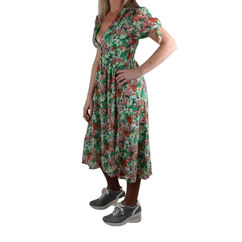 Pepe Jeans Vestido Aurelie Multi Estampado Floral Verde Mujer