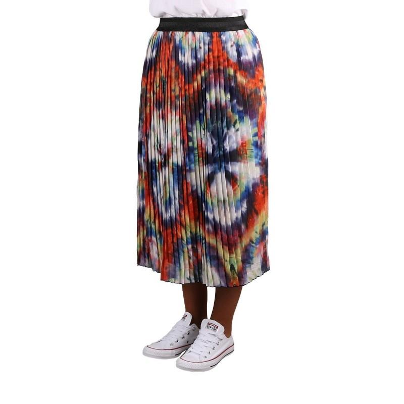 Pepe Jeans Falda Midi Plisada Dora Multi Tie Dye Multicolor Mujer