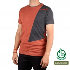 Ternua Camiseta Chocks Deep Burnt Naranja Gris Hombre