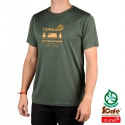 Ternua Camiseta Kita Deep Green Verde Mostaza Hombre