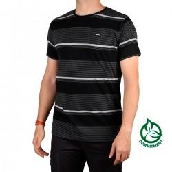 Ternua Camiseta Tarlac Black Negro Rayas Hombre