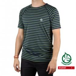 Ternua Camiseta Imus Dark Marine Rayas Verde Hombre