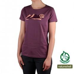 Ternua Camiseta Mactan Fig Granate Mujer