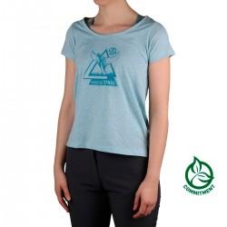 Ternua Camiseta Ponson Artic Washed Azul Mujer