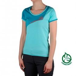 Ternua Camiseta Arete Artic Washed Azul Mujer