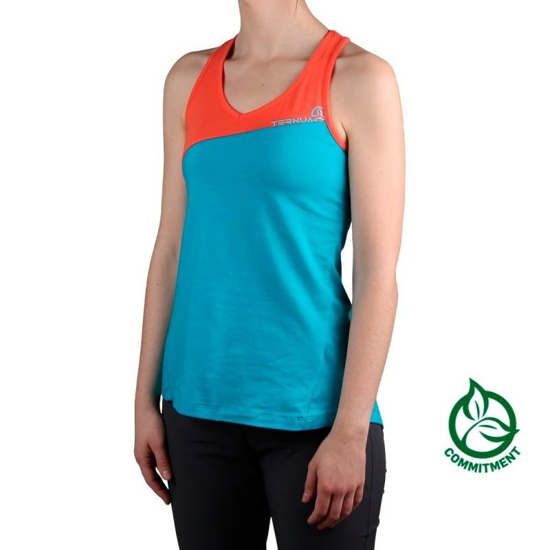 Ternua Camiseta Hangdog Deep Curacao Naranja Azul Mujer
