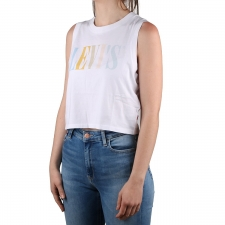 Levis Camiseta Graphic Crop Tank Neutral 90`s Serif Tank White + Blanco Mujer