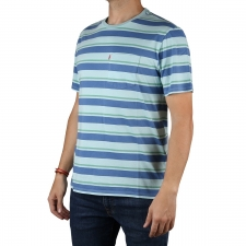Levis Camiseta Set-In Sunset Pocket Short Sleeves Multicolor Clarwater Rayas Azul Hombre