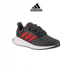Adidas zapatilla Runfalcon Grey Scarle Gris Rojo Hombre