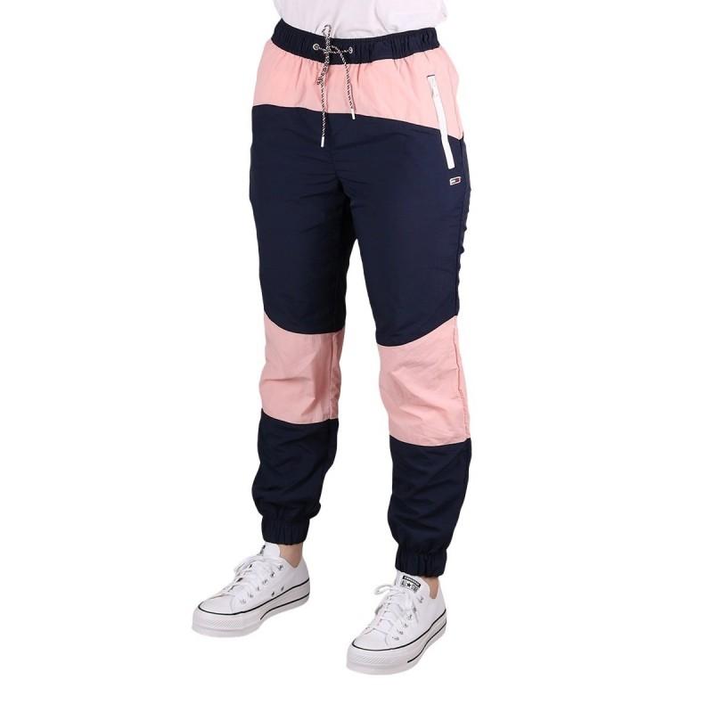 Tommy Hilfiger Pantalon Jogger Color Block Pink Icing Rosa Azul Mujer