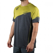 Ternua camiseta KINETIC Adrenalite Series Gris Amarillo Hombre