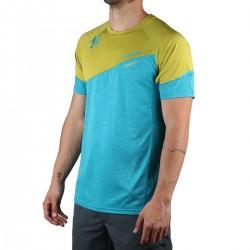 Ternua camiseta KINETIC Deep Curacao Azul Amarillo Hombre