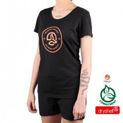 Ternua camiseta YARI Black Negro Naranja Mujer