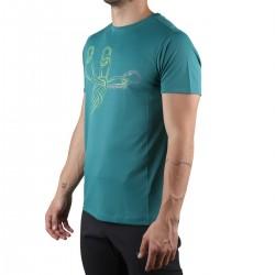 Trangoworld Camiseta Sangons VT Azul Verdoso Hombre