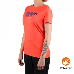Trangoworld Camiseta Morillo Fluor Coral Mujer