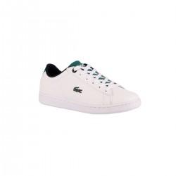 Lacoste Zapatilla junior Carnaby Evo Textil White Green Blanco Verde Niño