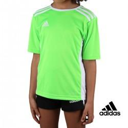 Adidas Camiseta Entrada JR Solar Green White Lima Niño