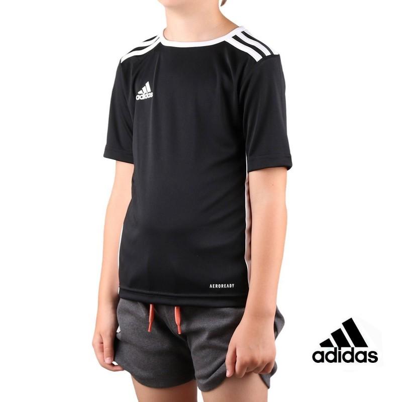 Adidas Camiseta Entrada Jr Black White Negro Niño