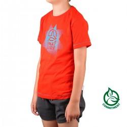 Ternua Camiseta Danuis Orange Red Naranja Azul Niño