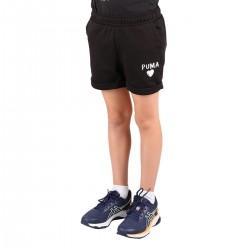 Puma Bermuda Alpha Shorts Girl Negro Niño