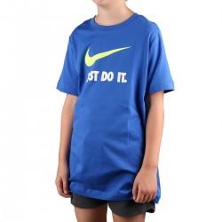 Nike Camiseta Sportswear Swoosh Just do it Azul Niño