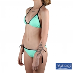 Puma Top Bikini Triangle Top Verde Agua Negro Mujer