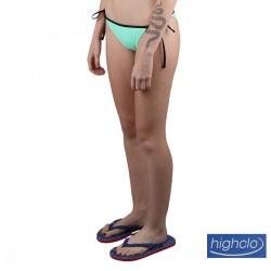Puma Braguita Bikini Swim Side-Tie Bottom Verde Agua Negro Mujer