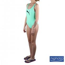 Puma Bañador Swim Verde Agua Negro Mujer