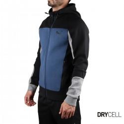 Puma Sudadera cremallera Evostripe Hooded Jacket Dark Denim Azul Negro Hombre