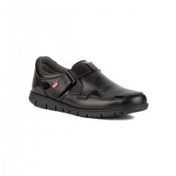 On Foot Sandalia Velcro 8904 Negro Hombre