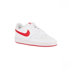 Nike Court Vision Low White University Red Blanco Rojo Mujer