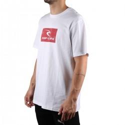 Rip Curl Camiseta Hallmark White Blanco Rojo Hombre