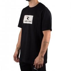 Rip Curl Camiseta Hallmark Black Negro Blanco Hombre