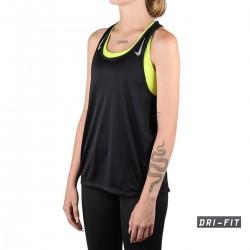 Nike Camiseta Miler Black Negro Mujer