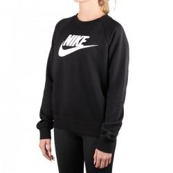 Nike Sudadera Sportswear Essential Logo Negro Mujer
