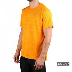 Nike Camiseta Dri-FIT Miler Naranja Hombre