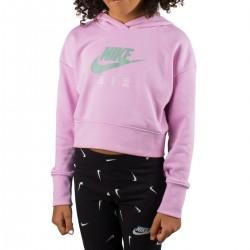 Nike Sudadera Nike Air Crop Rosa ártico claro Jade Niño